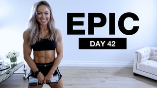 Day 42 of EPIC   Dumbbell CAPPED Shoulders & Core Strengthening Workout