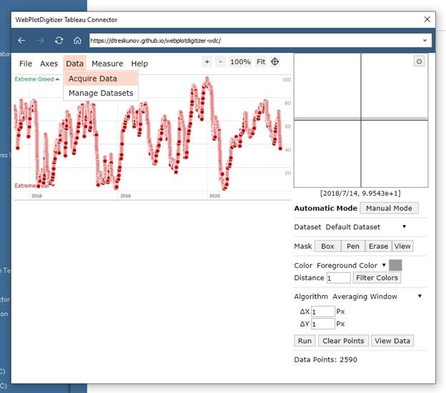 Извлечение данных из графиков при помощи Tableau Web Data Connector (WDC) на примере анализа индекса страха и жадности (Fear and Greed Index), изображение №27