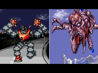Contra: Hard Corps (Genesis) All Bosses