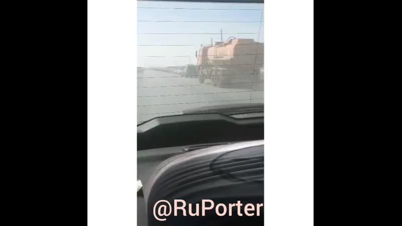 ⚠️ Эсклюзив На трассе в сторону Бирск в Башкирия очевидцы засняли на видео дорожный инцидент инспектор ГИБДД @ gibddbirs
