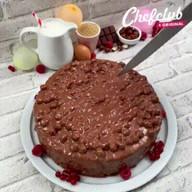 id_42795 Орехово-шоколадный вертикальный торт 🎂❣  Автор: Chef Club  #gif@bon