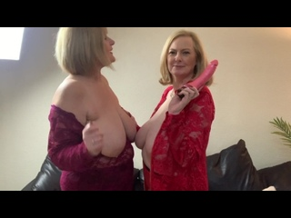 2 very Busy Milfs Enjoy some Naughty Tit Play. come and Join in the Filthy Fun! -