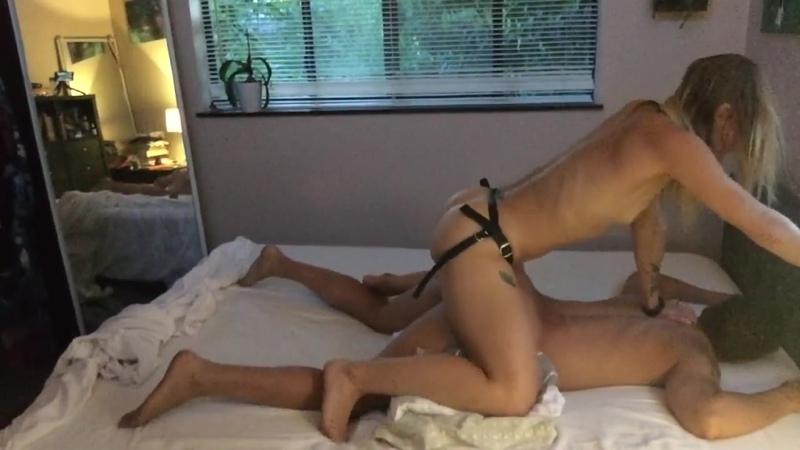 Brutal girlfriend pegging strapon femdom, mistress, BDSM, pegging, страпон, страпон порно