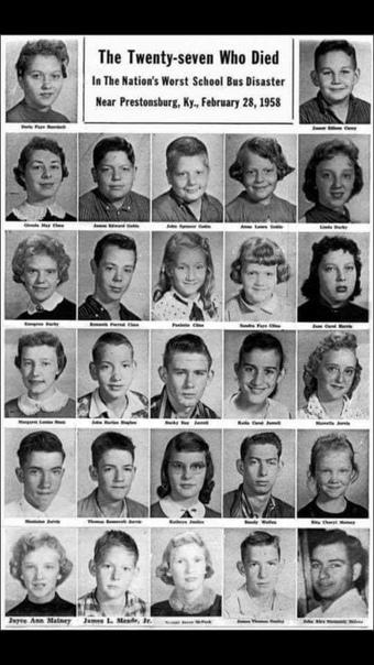 История 215. Дайвинг на школьном автобусе. Престонбург (штат Кентукки, США), 28 февраля 1958 года. Кентукки фермерский штат, а округ Флойд, где произошла эта история, россыпь маленьких городков