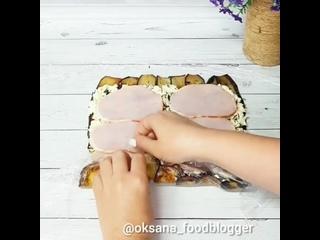 Рулет из баклажанов с сыром