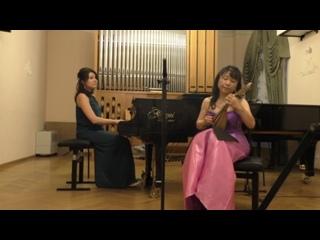 Норико Итами (мандолина) Япония  Партия фортепиано —  Наталья Соколовская, Россия