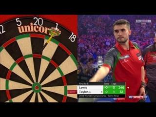 Jamie Lewis vs Phil Taylor (PDC World Darts Championship 2018 / Semi Final)