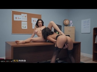 Darcie Dolce & Autumn Falls [ Lesbians &  In the office &  With talk / Cunnilingus , Body piercing , Finger , Beautiful lingerie