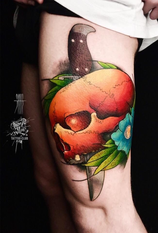 Татуировка в стиле неотрад
