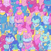 Паттерн собачек - открытка/принт/плакат