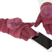 Перчатки сенсорные 2 в 1 с мехом