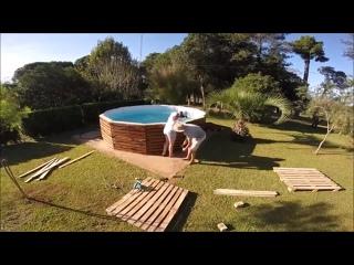 Установка бассейна на даче