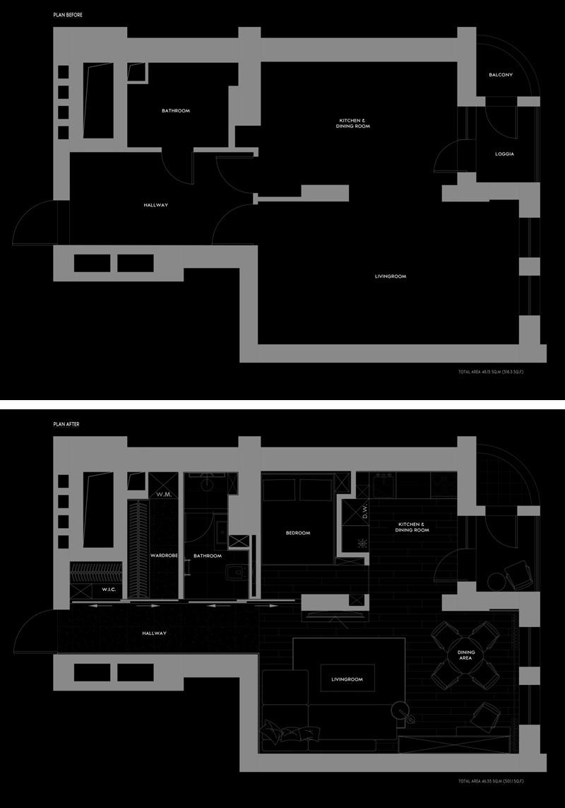 Интерьер квартиры 48 м.