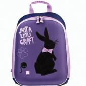 Ранец жесткокаркасный Brauberg для учениц начальной школы, 1 отделение, «Чёрный кролик»