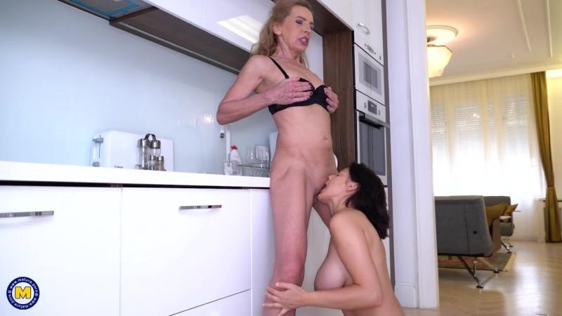 Mature, Big tits, Lesbian, Granny, Old-young, Piercing, 1080p