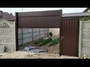 Роллетные ворота автоматические 3х2,7м калитка1х2м