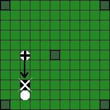 Копенгагский Хнефатафл - Возможные способы «срубания» фигуры противника (3)