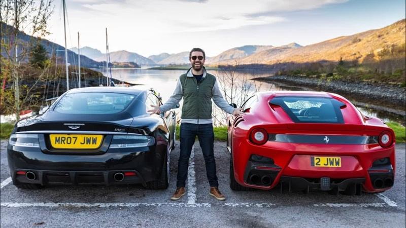 Ferrari F12 TDF Aston Martin DBS On Scotland's Best Driving Roads!
