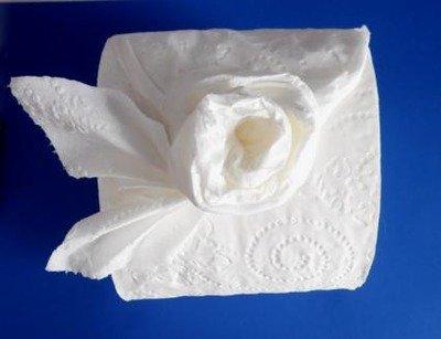 Оригами «Роза» из туалетной бумаги