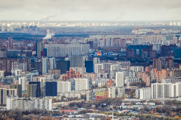 🏙🌆 Посмотрите на осеннюю Москву с высоты Останкинс...
