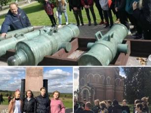 Ученики 7 «а», 7 «б» и 8 «а» классов Дороховской школы Рузского городского округа вместе с классными