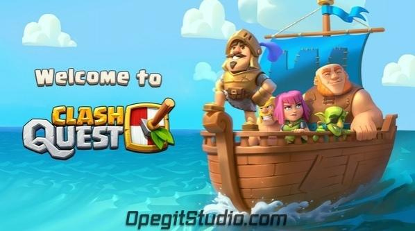 Первый твит официального аккаунта Clash Quest: «Наши Герои