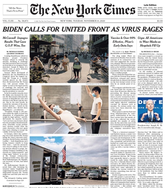 The New York Times - Nov 10 2020