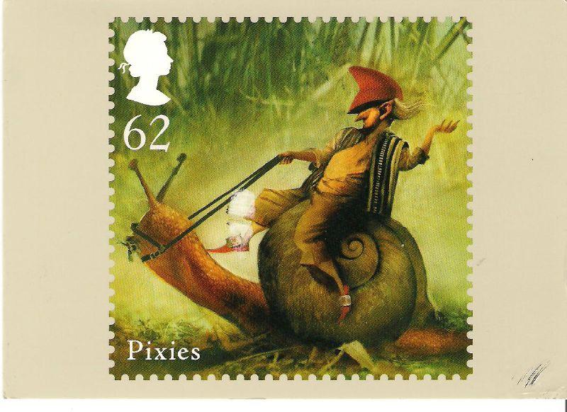 Пикси на британской почтовой марке 2009-го года выпуска.