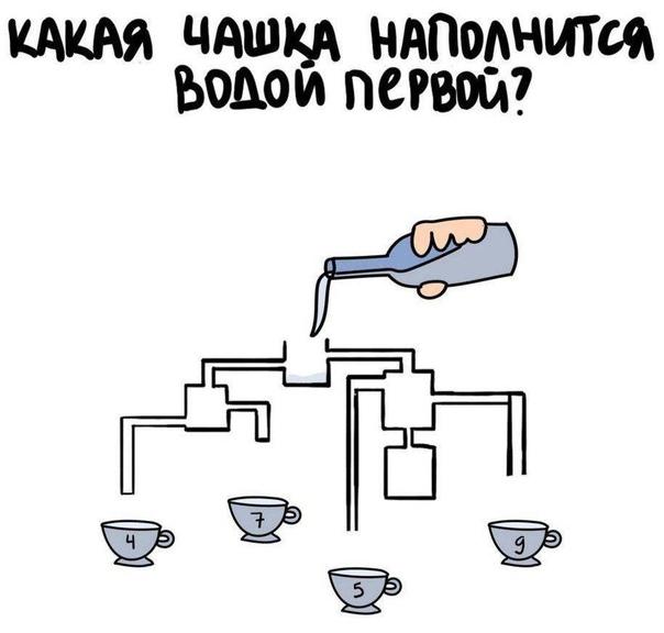Поиграем? Какая чашка наполнится водой первой? 🤓...