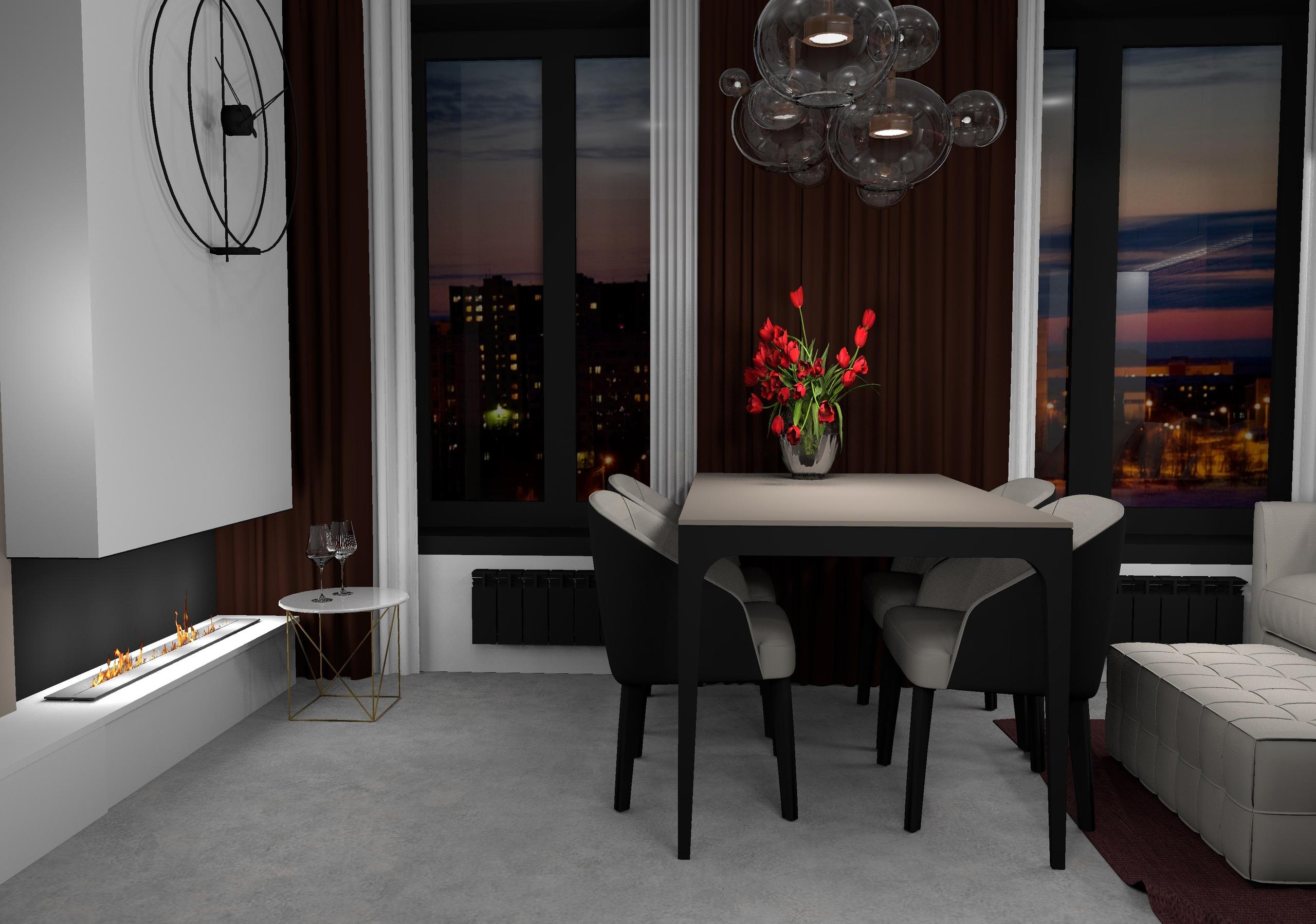 Проект жилых апартаментов площадью всего 24.