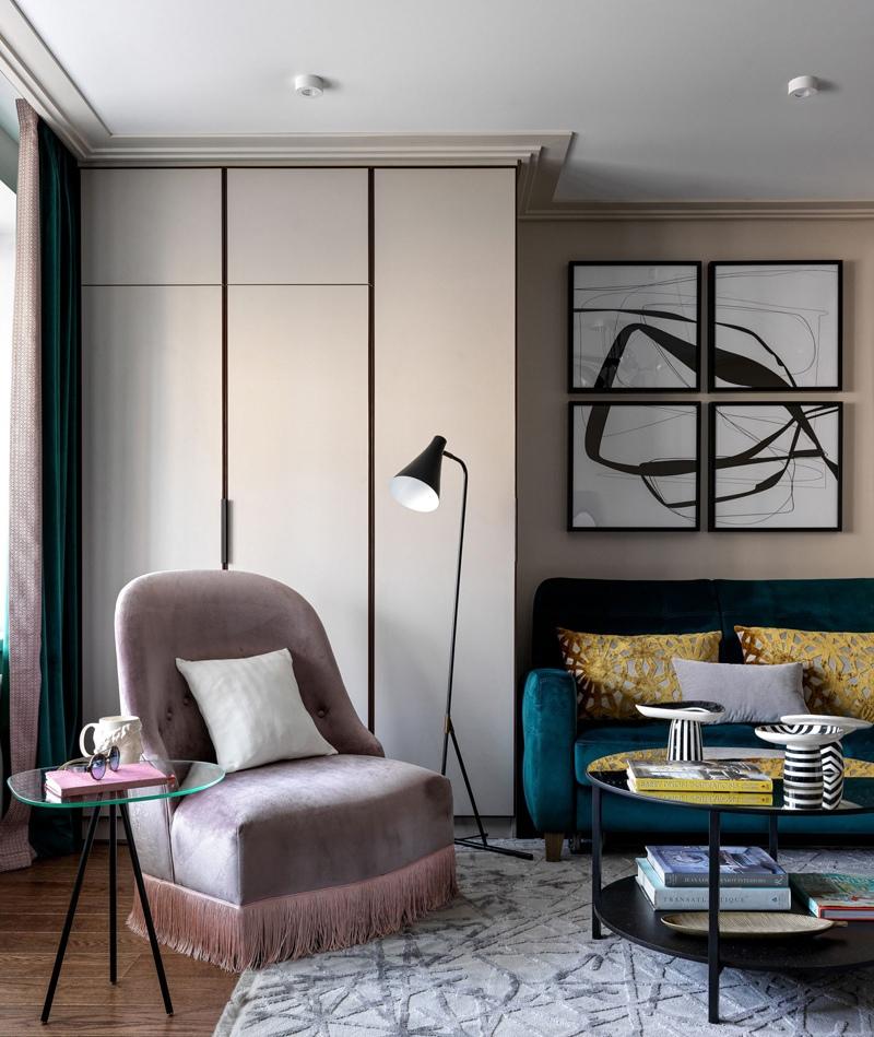 Дизайн квартиры 35 м в Москве.