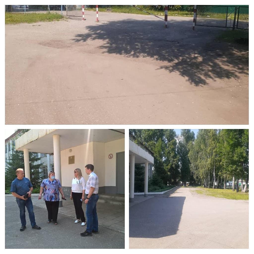 К новому учебному году приведут в порядок территорию, прилегающую к основному учебному корпусу школы №8 Петровска