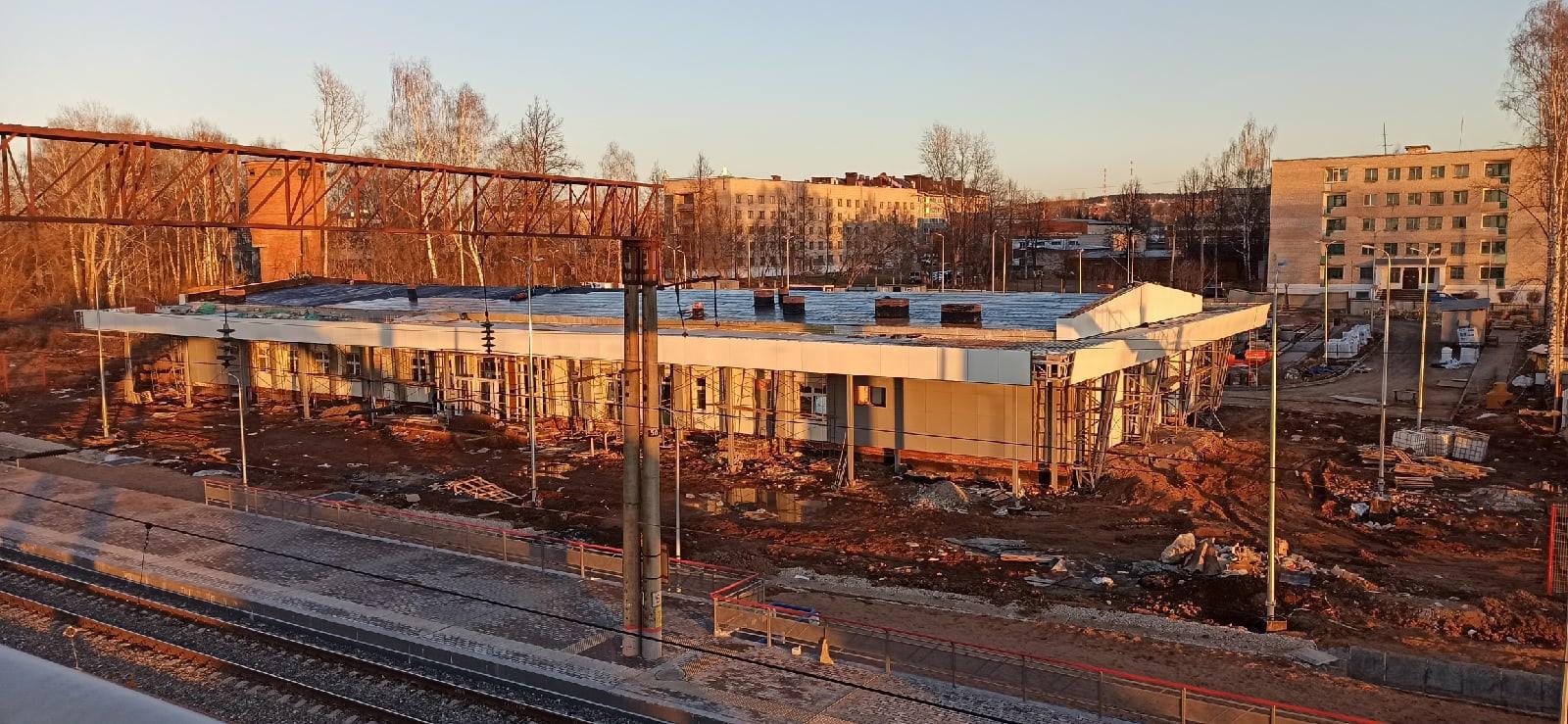Строительство нового ЖД вокзала в Можге близится