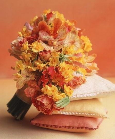 как сделать композицию из осенних цветов,