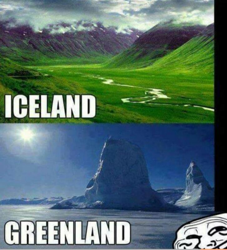 Зеленая страна - Гренландия и Страна льда - Исландия: почему так названы?