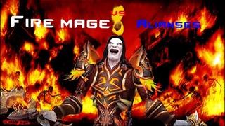 Fire mage vs Alianses World of warcraft Shadowlands  ( battle ground )