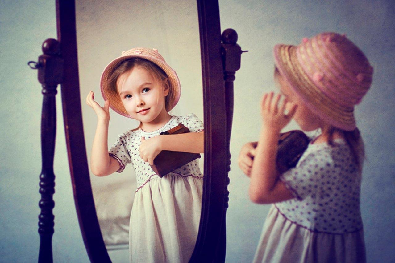 Картинка отражение в зеркале для детей