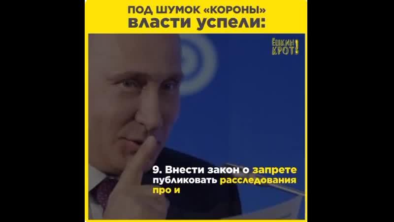 Российские власти успели напринимать кучу феерических законов за время коронакризиса