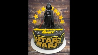 Оформление торта Звёздные войны_How to Make Star Wars Cake_Como fazer bolo Star Wars