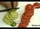 Dậy nấu ăn : Học cắt tỉa đơn giản từ cà rốt và dưa chuột