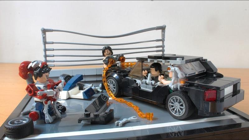 Lego Iron Man 2 Mark V suit up scene MOC