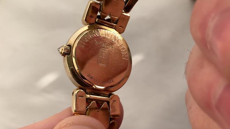 Видеообзор на Harry Winston золотые швейцарские часы с бриллиантами за 9500$