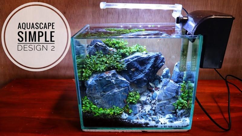 100 Aquascape simple design 2 cocok buat anak koss dan meja kerja