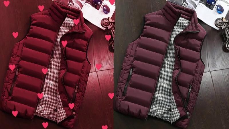 Brand Clothing Vest Jacket Mens New Autumn Warm Sleeveless Jacket Male 9142020 1324