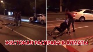 Жестокая расправа в Алматы. Авто въехали в толпу