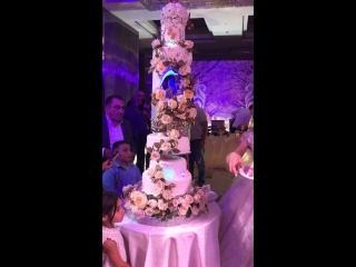 Роскошный Свадебный торт Эдика и Роксаны Аны