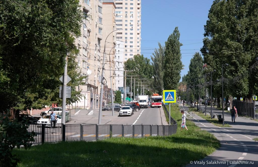 Улица Рахова в Саратове после реконструкции