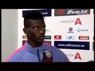 Huesca-FCB (0-4): players reactions