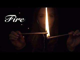 АСМР   Звуки огня, спички, близкий шёпот   ASMR   Fire sounds,matches , whispering Binaural