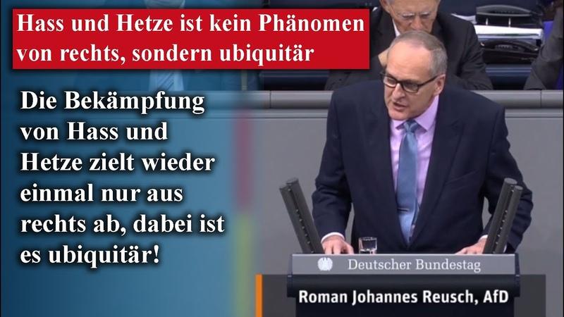Roman Johannes Reusch AfD Bekämpfung von Hass und Hetze